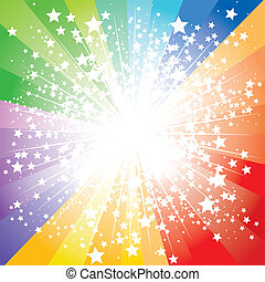 Stars burst - colorful abstract stars burst, vector...