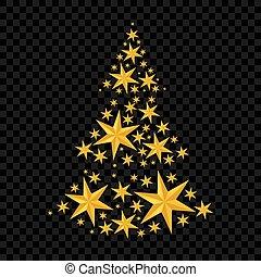Stars christmas tree