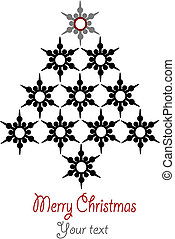 Stars christmas tree with place for your text - editable vector illustration.