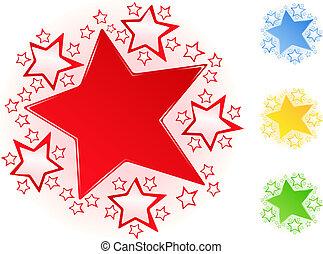 Stars - Set of vector bright stars