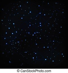 Stars cosmic sky vector background concept