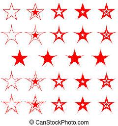 stars., design, elements.