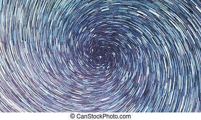 Stars draw a line in the sky. screw spiral. Time Lpase