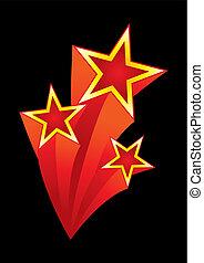 Stars explosion - Design element for designs in retro style