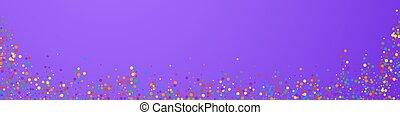stars., extático, confetti., festivo, lluvia, celebración