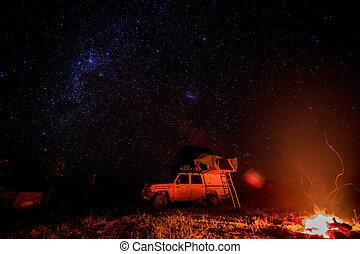 stars., falò, campeggio