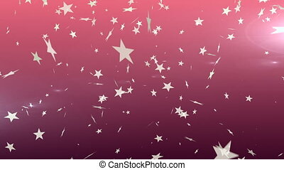 Stars falling against red background