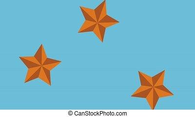 Stars falling HD animation - Stars falling over blue...