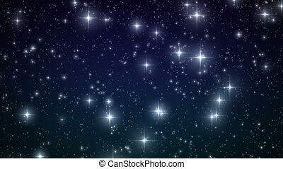 Stars falling like snowflakes. Loop