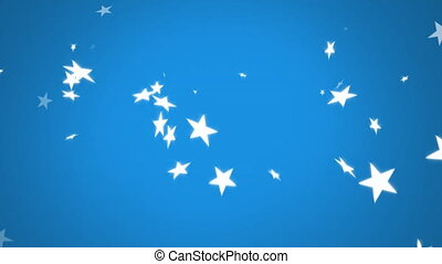 Stars falling on a blue background