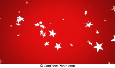 Stars falling on a red background