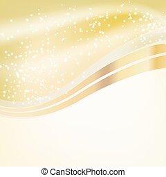 stars flowing over golden backgroun