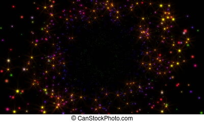 stars fly in space