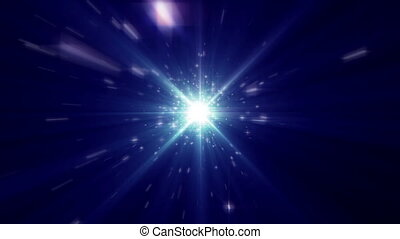 stars fly in space light ray abstract