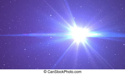 stars fly in space ray