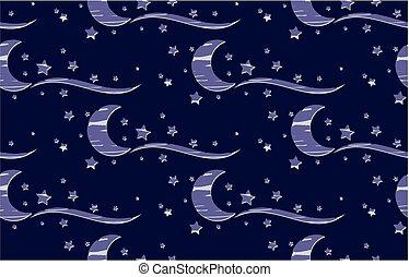 stars., fond, lune
