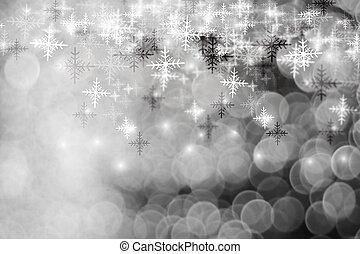 stars., fundo, natal, piscando