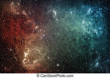 stars., galassia, fondo, universo