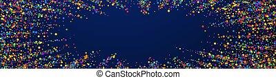 stars., gioioso, festivo, confetti., celebrazione, moderno