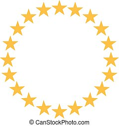 Stars in circle shape