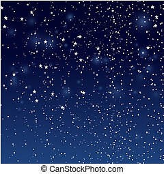Stars in night sky. - Stars and snowfall in night sky....