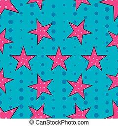 Stars in pop art style. Vector.