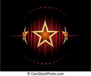 Stars in red
