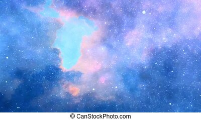 Stars in sky - Colorful clouds and stars in sky