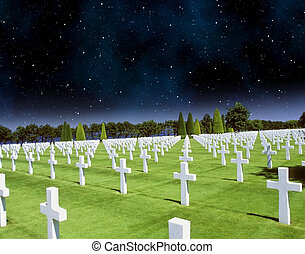 Stars in the Night over American Cemetery