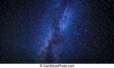Stars in the Night Sky, Milky Way Galaxy