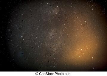 Stars in the night sky.