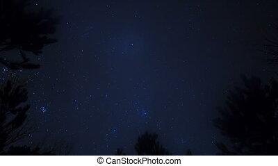 Stars in the sky. Time Lapse. 4K