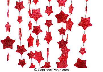 stars isolated on a white