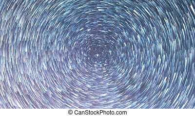 Stars leave traces. Zoom. Multi-colored . UltraHD (4K)