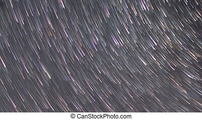 Stars leave traces. Zoom. UltraHD (4K)
