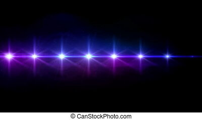 Stars lens flares step turn on color hd - abstract image of...