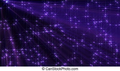 stars light ray fall particles from above