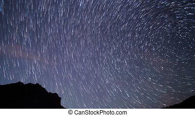 Stars like meteors. TimeLapse