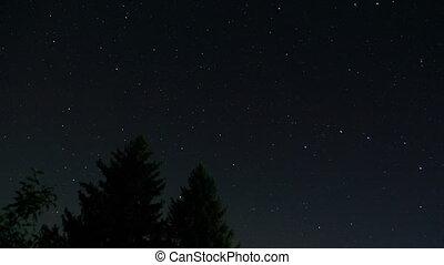 Stars motion timelapse