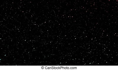 Stars moving on the sky