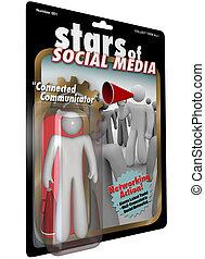 Stars of Social Media Action Figure Great Communicator -...