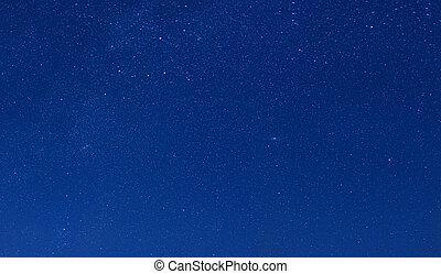 Stars on a background of night blue sky