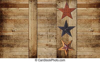 Stars on a cedar background
