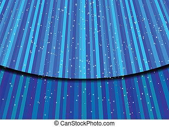 Stars on blue light. Vector