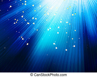 Stars on blue striped background. EPS 10