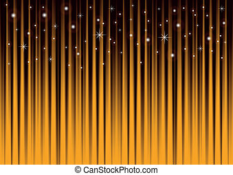 Stars on gold striped background