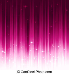 Stars on purple vertically striped background