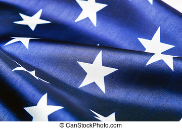 stars on the American flag Close-up