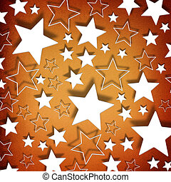 Stars on vintage grunge background/