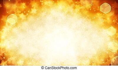stars on yellow background loop